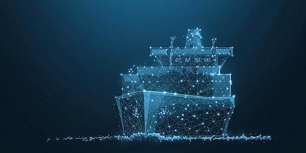 轮船航行图片
