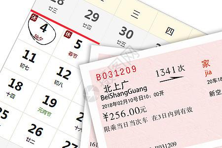 春运车票图片