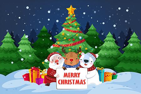 圣诞节圣诞森林图片