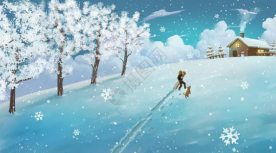 冬至归乡图片