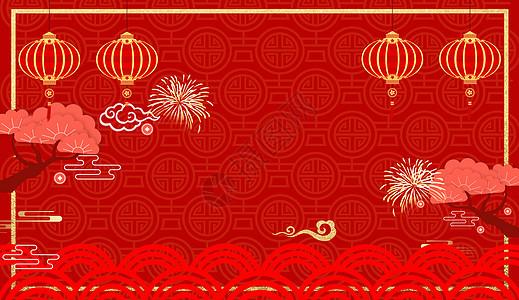 新年红色喜庆图片