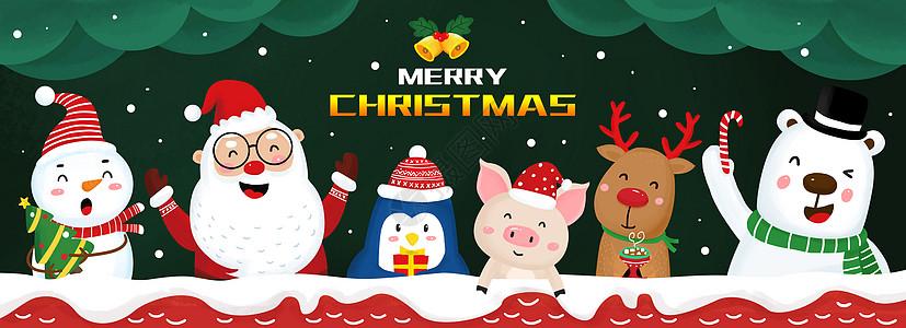 圣诞节动物图片