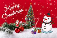 圣诞树圣诞雪人图片