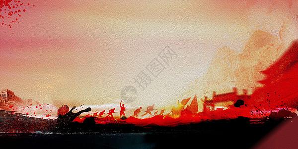 中国风水油画图片
