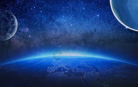 星球爆炸场景图片