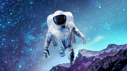 宇航员傲游星空图片