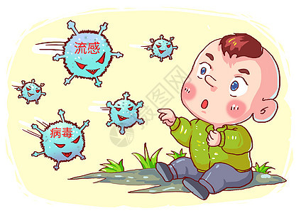 流感病毒漫画图片