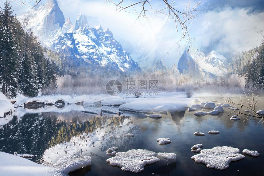 冬天的风景图片