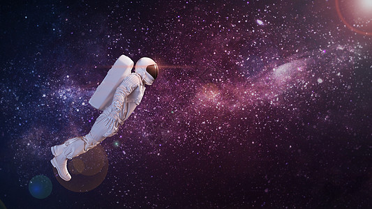 星空宇航员图片