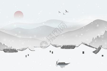山间落雪图片