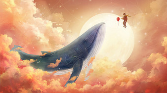 与鲸鱼的天空之旅图片