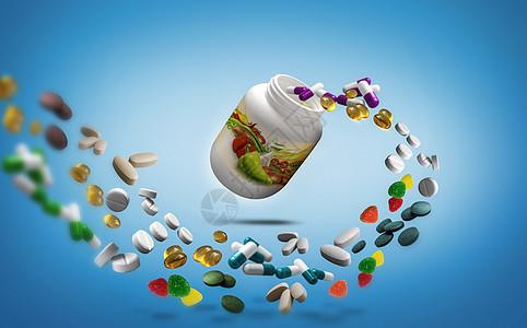 多种维生素保健品图片