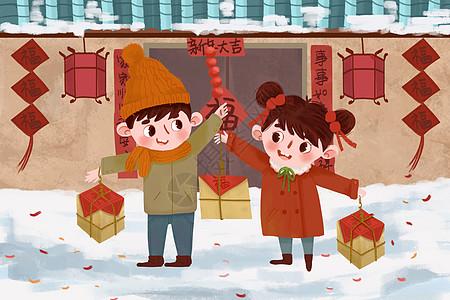 春节走亲戚串门图片