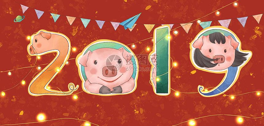 2019数字猪图片