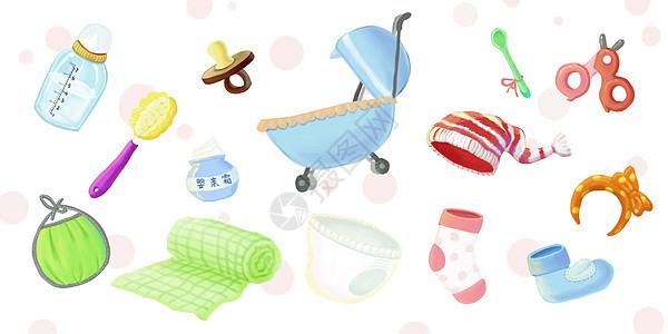 婴儿食用穿素材图片