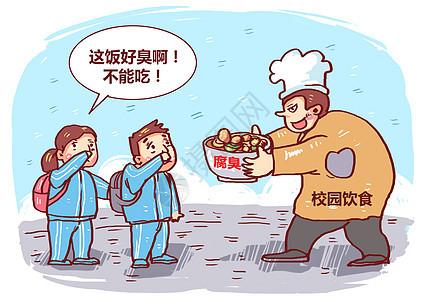校园饮食安全漫画图片