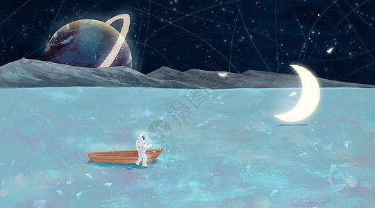 宇航员的太空漫游picture