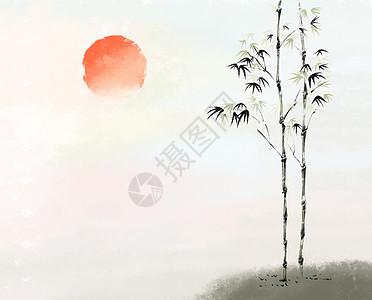 傍晚是竹树图片