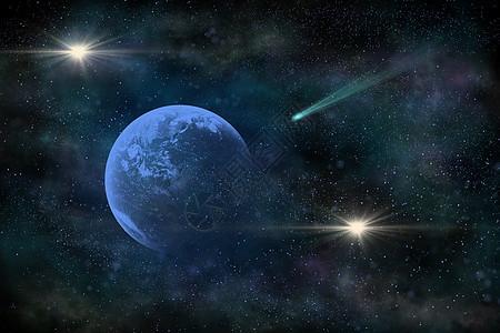 彗星撞地球图片