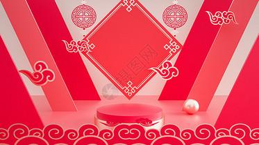 中国风喜庆电商背景图片