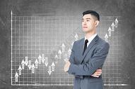 商务男性与信息图图片