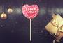 情人节爱心棒糖图片