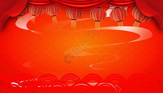 红色新春背景图片