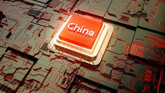 中国芯片崛起图片