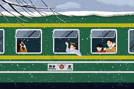 回家的绿皮火车图片