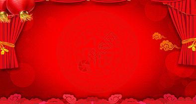 新年红色背景图片