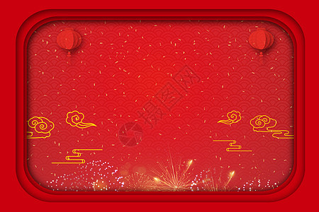 新年的红色背景图片
