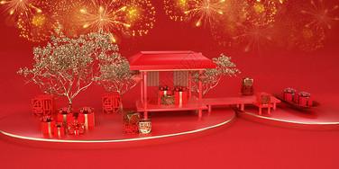 新年喜庆场景图片