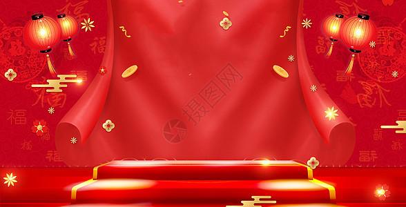 新年红色的灯笼图片