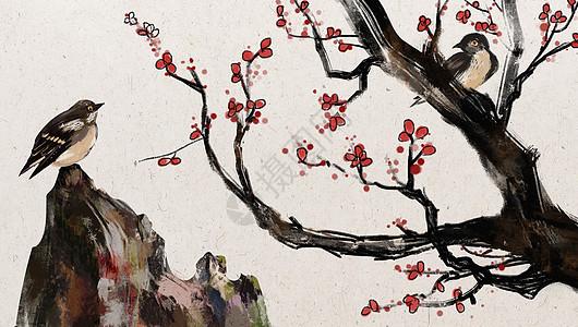 中国风花鸟图片