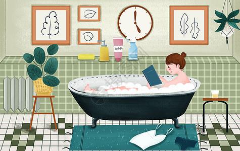 居家泡澡图片