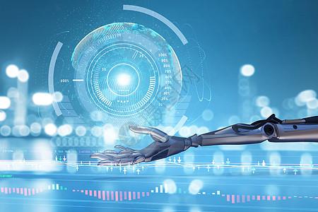 智能机器人场景图片