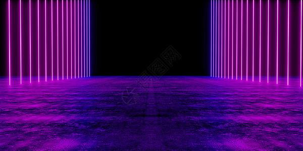 炫酷霓虹空间图片
