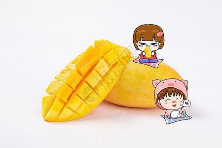 吃芒果图片