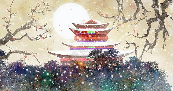 古楼中国风图片