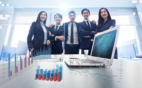 商业精英分析业务数据图片