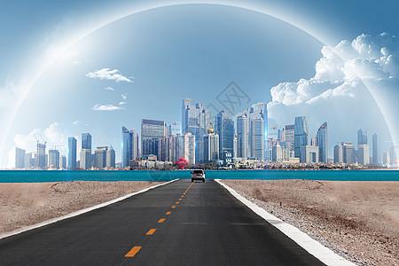 通向梦想的城市图片