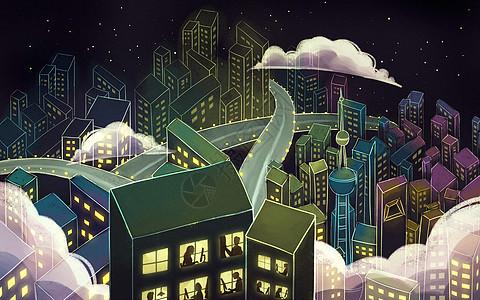 都市职场夜生活图片