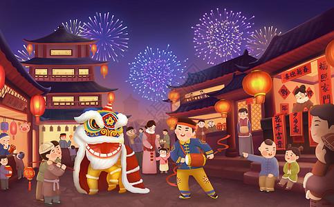 新年舞狮图片