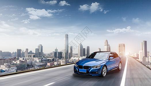 城市高速路炫酷汽车图片