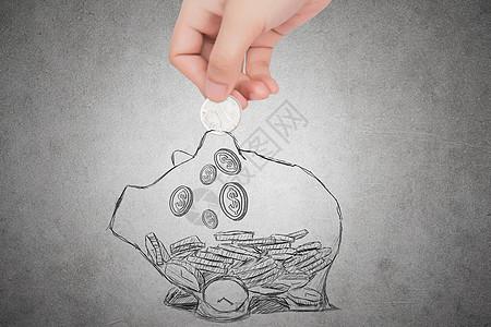 金融储蓄场景图片