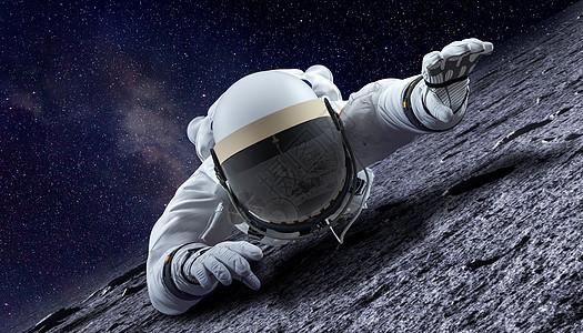 太空宇航员攀爬图片