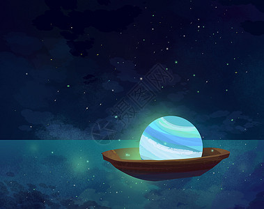蓝色行星乘船漂流picture