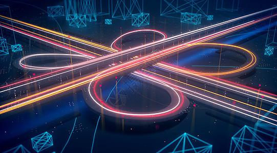 科技立交桥场景图片