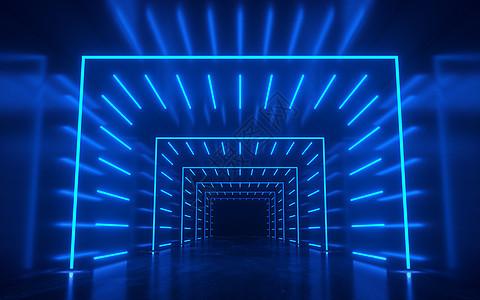 科技空间隧道灯光场景图片