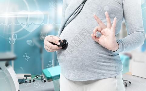 孕妇检查身体健康图片